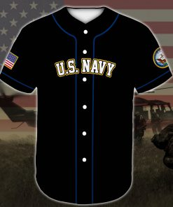 custom name united states navy veteran dad all over printed baseball shirt 4