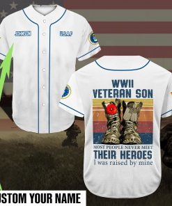 custom name veteran son most people never meet their heroes full printing baseball shirt 2