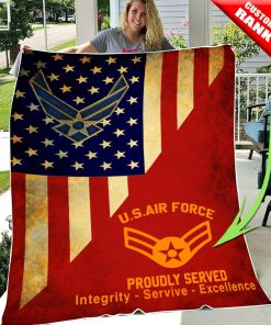 custom united states air force proudly served all over printed blanket 2