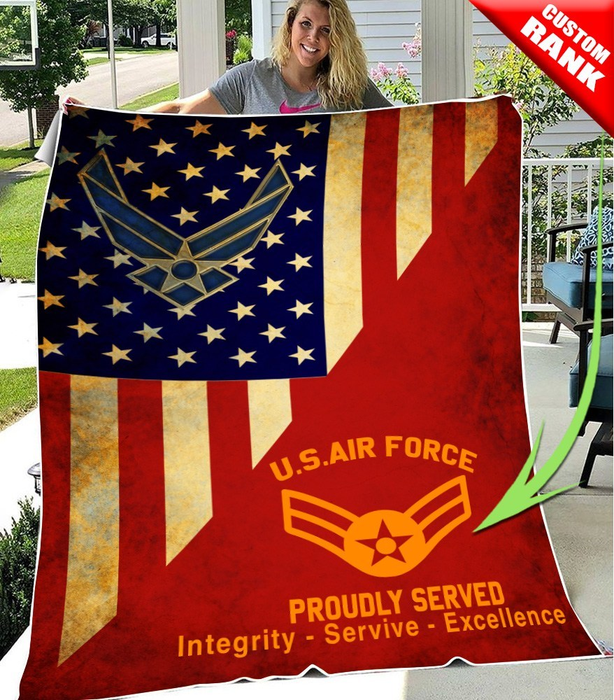 custom united states air force proudly served all over printed blanket 3