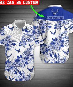 custom your name united states air force veteran full printing hawaiian shirt 2
