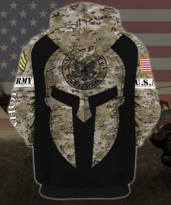 custom your name united states army all over printed hoodie - back