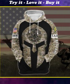 custom your name united states army all over printed shirt