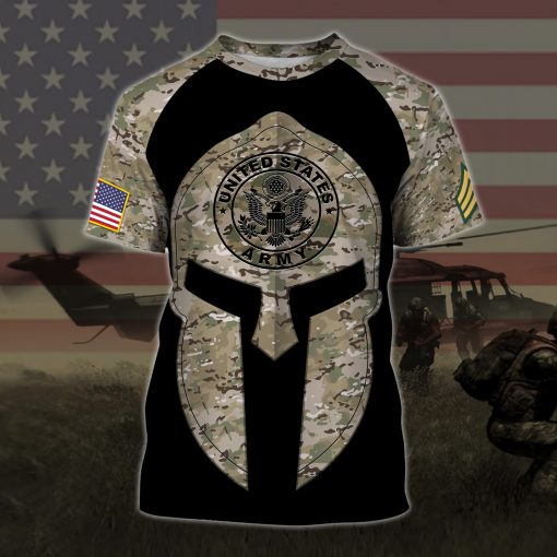 custom your name united states army all over printed tshirt
