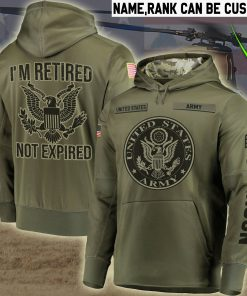 custom your name united states army im retired not expired all over printed shirt 2