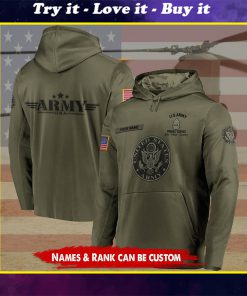 custom your name united states army proudly served all over printed shirt