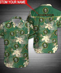 custom your name united states army veteran tropical flower full printing hawaiian shirt 2