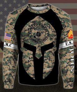 custom your name united states marine corps all over printed sweatshirt