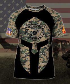 custom your name united states marine corps veteran warrior camo all over printed tshirt
