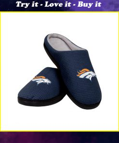 denver broncos football team full over printed slippers