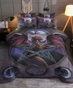 dragon and witch all over printed bedding set 2