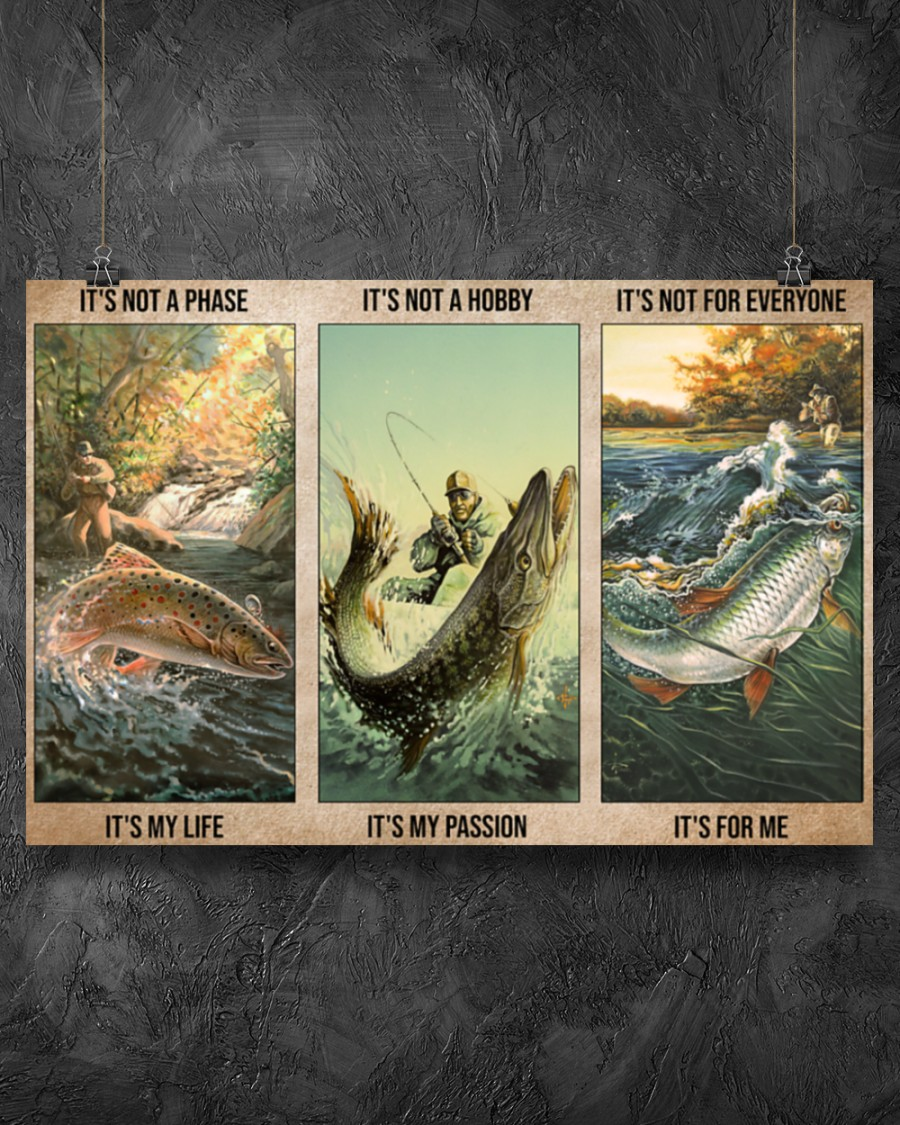 fishing be strong be brave be humble be badass vintage poster 5
