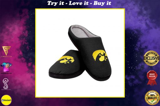iowa hawkeyes football full over printed slippers