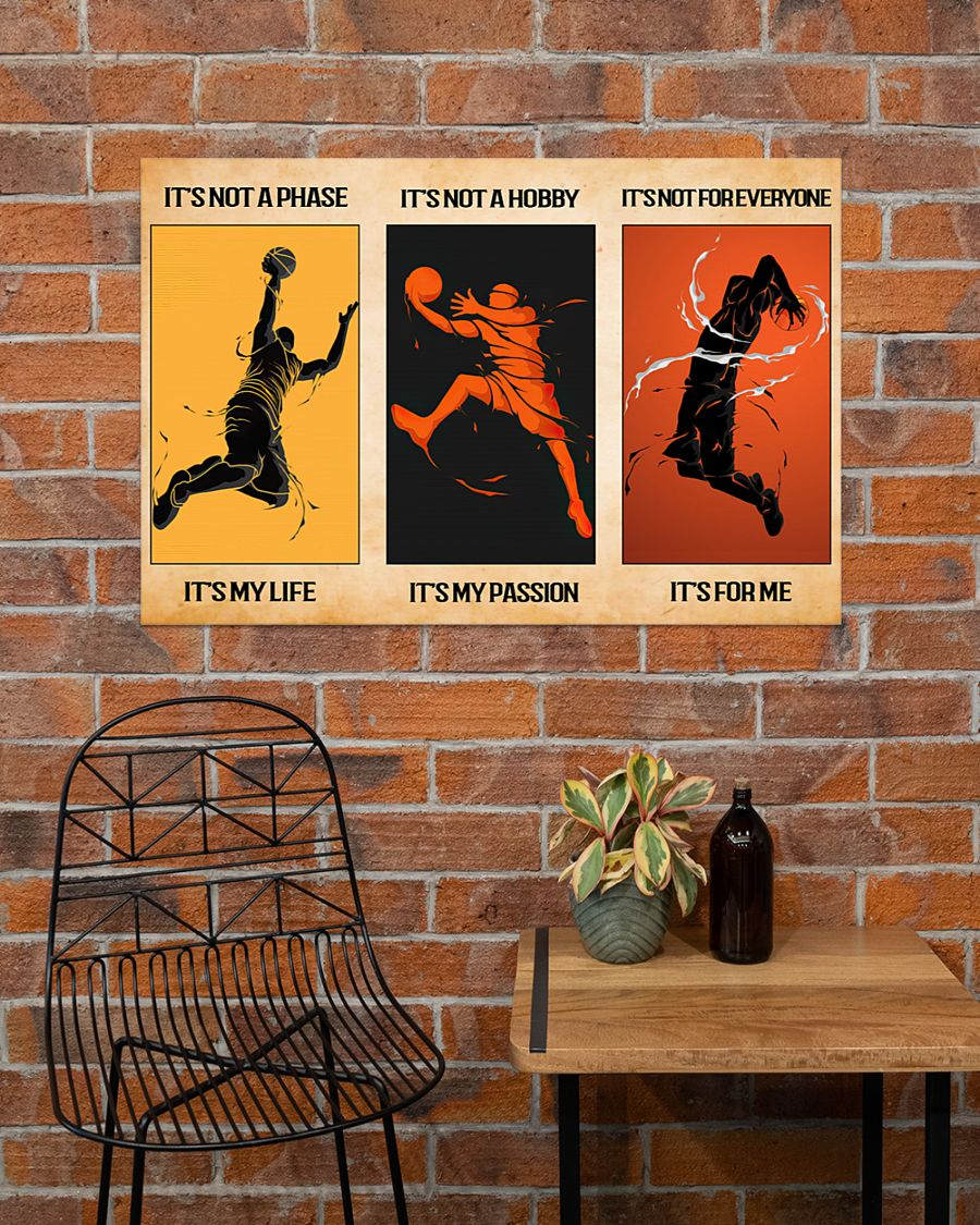 its not a phase its my life its not a hobby its my passion basketball vintage poster 3