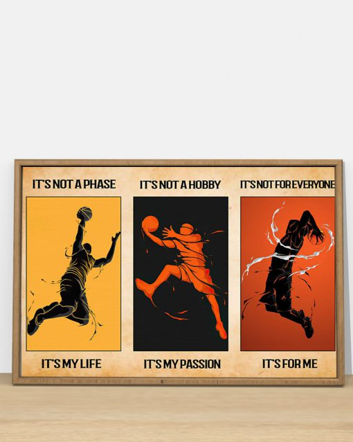 its not a phase its my life its not a hobby its my passion basketball vintage poster 4