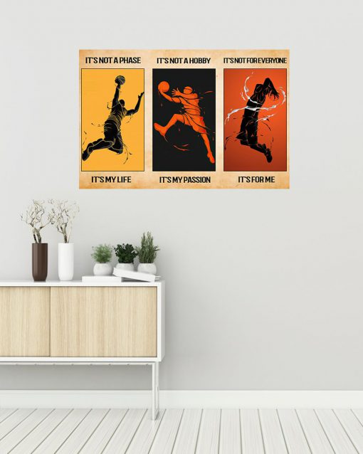 its not a phase its my life its not a hobby its my passion basketball vintage poster 5