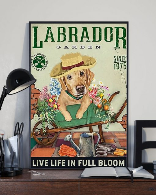 labrador garden live life in full bloom vintage poster 4