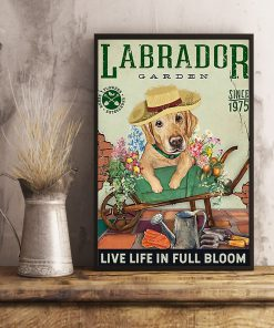 labrador garden live life in full bloom vintage poster 5