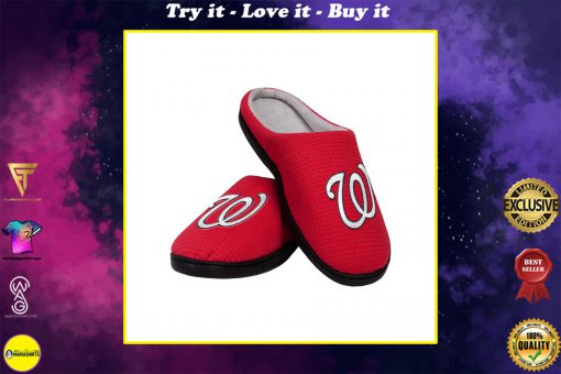 major league baseball washington nationals full over printed slippers