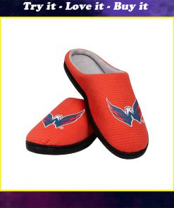 national hockey league washington capitals full over printed slippers
