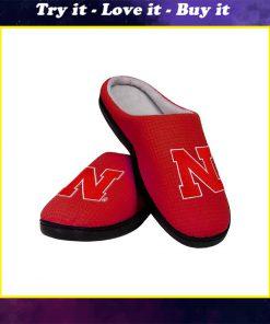 nebraska cornhuskers football full over printed slippers