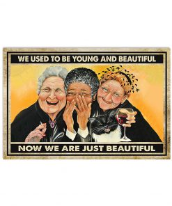 old ladies we used to be young and beautiful now we are just beautiful vintage poster 2