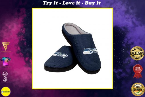 seattle seahawks football full over printed slippers