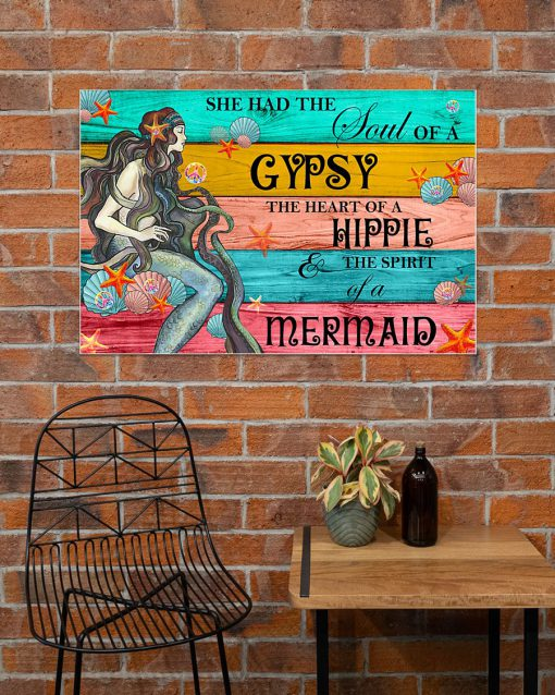 she had the soul of a gypsy the heart of a hippie and the spirit of a mermaid poster 4