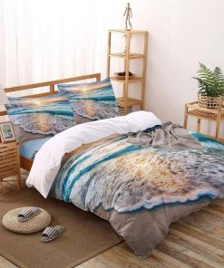 the beach all over printed bedding set 3