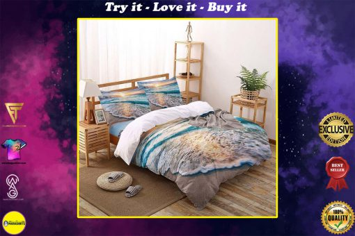 the beach all over printed bedding set