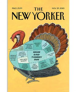 the new yorker turkey vintage poster 2