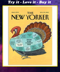 the new yorker turkey vintage poster
