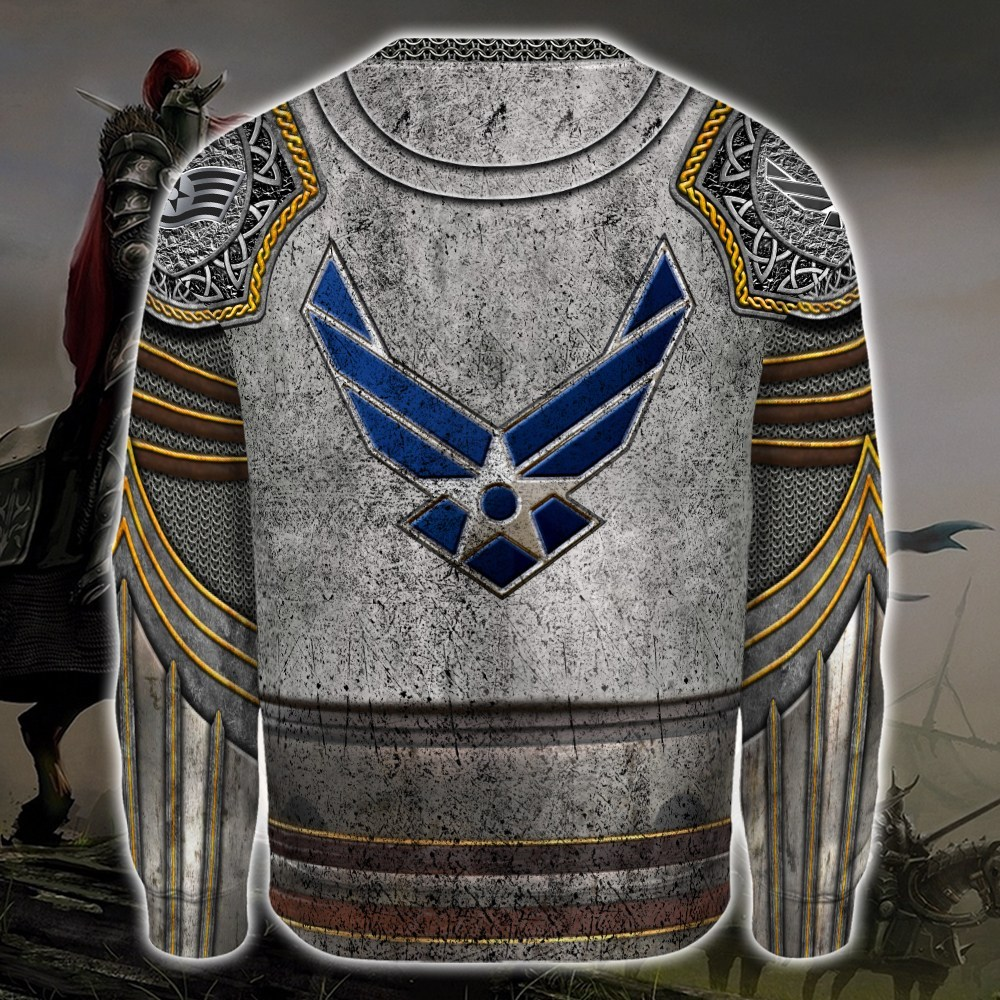 united states air force warrior all over printed sweatshirt - back