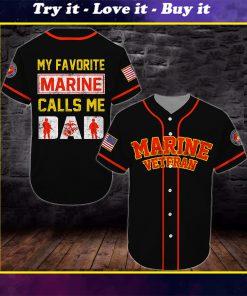 united states marine corps veteran all over printed baseball shirt