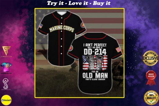 united states marine corps veteran veteran boots all over printed baseball shirt