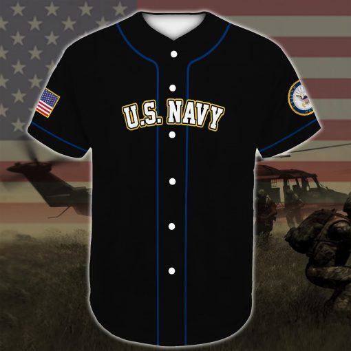 united states navy veteran boots all over printed baseball shirt 4
