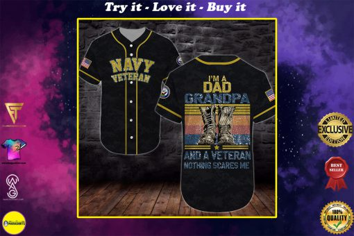 united states navy veteran boots im a dad all over printed baseball shirt