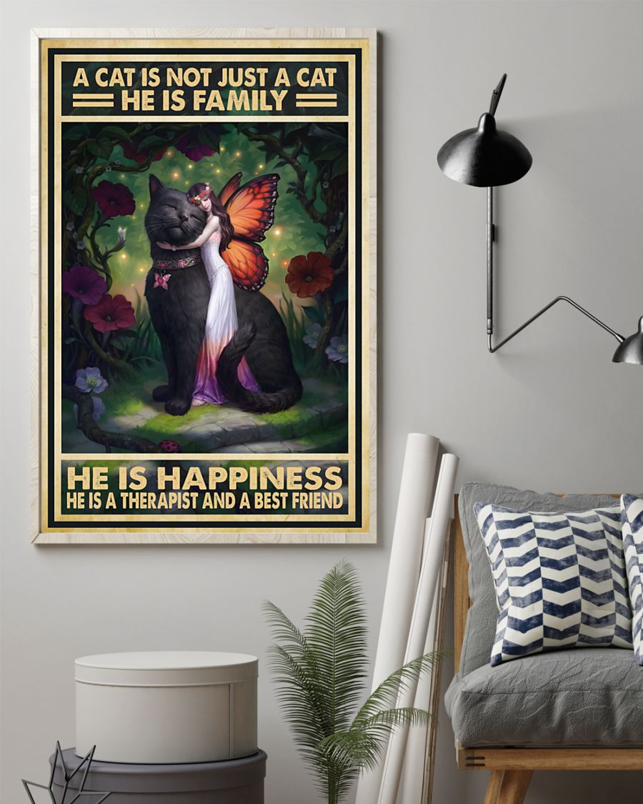 vintage a cat is not just a cat he is sanity he is happiness he is teacher he is therapist poster 3