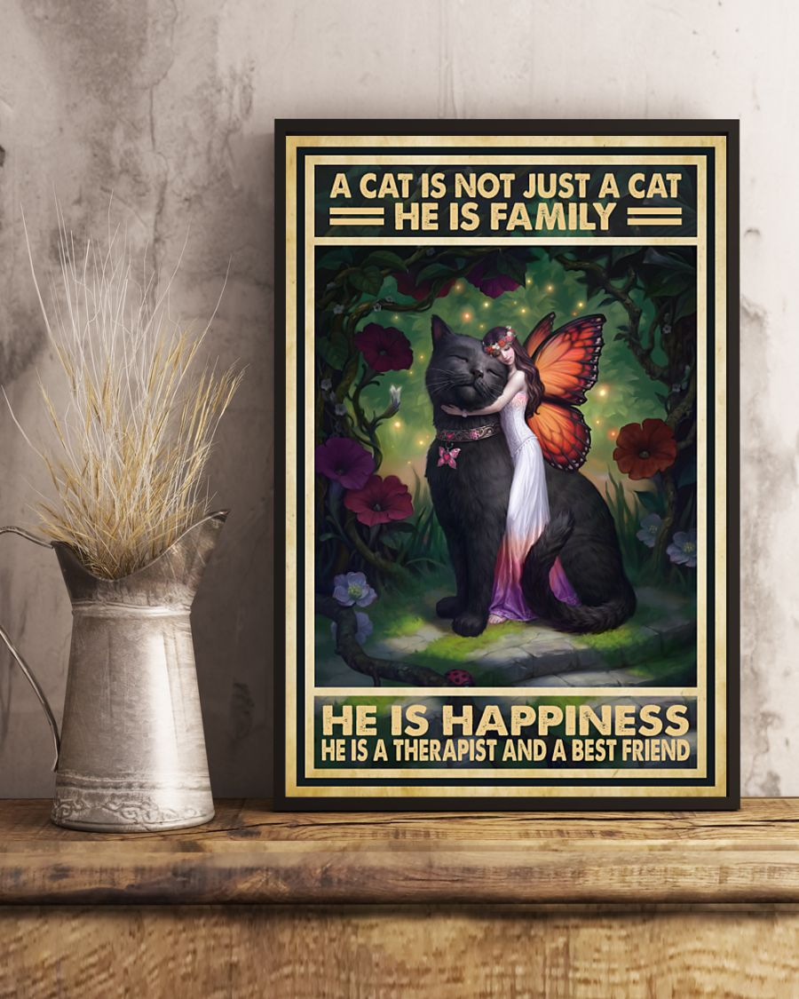 vintage a cat is not just a cat he is sanity he is happiness he is teacher he is therapist poster 4