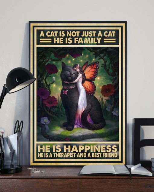 vintage a cat is not just a cat he is sanity he is happiness he is teacher he is therapist poster 5