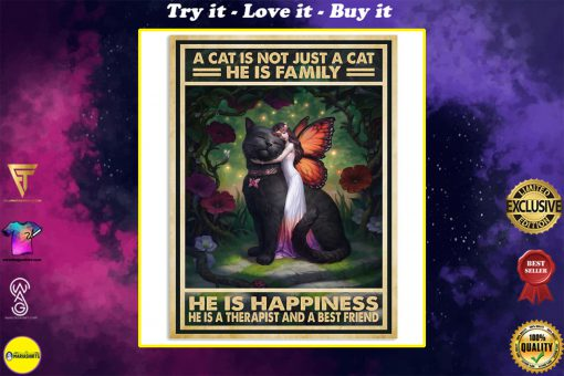 vintage a cat is not just a cat he is sanity he is happiness he is teacher he is therapist poster