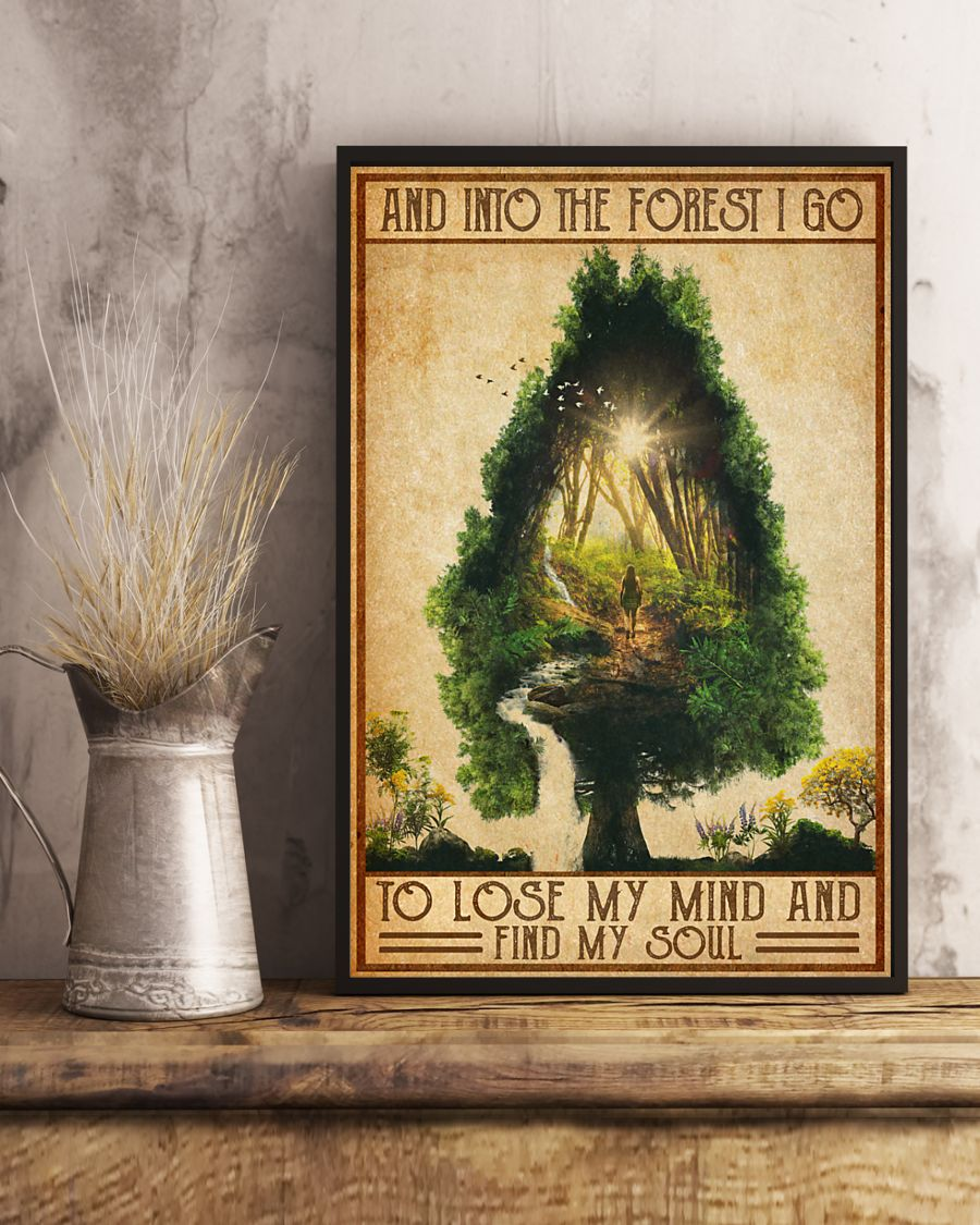 vintage camping into the forest i go to lose my mind and find soul poster 4