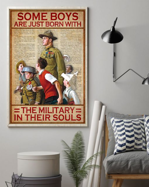 vintage some boys are just born with the military in their souls poster 2