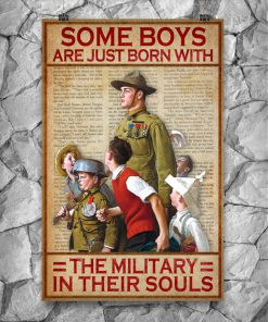 vintage some boys are just born with the military in their souls poster 5