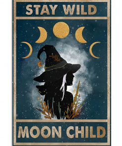 vintage stay wild moon child witch lady poster 2