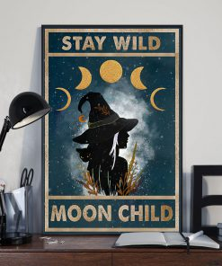 vintage stay wild moon child witch lady poster 3