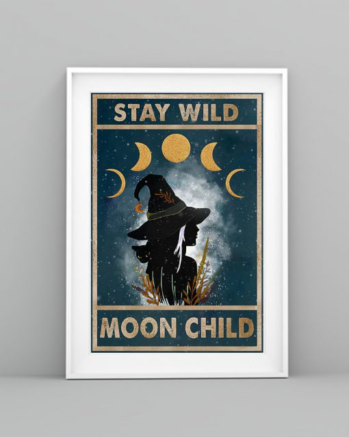 vintage stay wild moon child witch lady poster 4