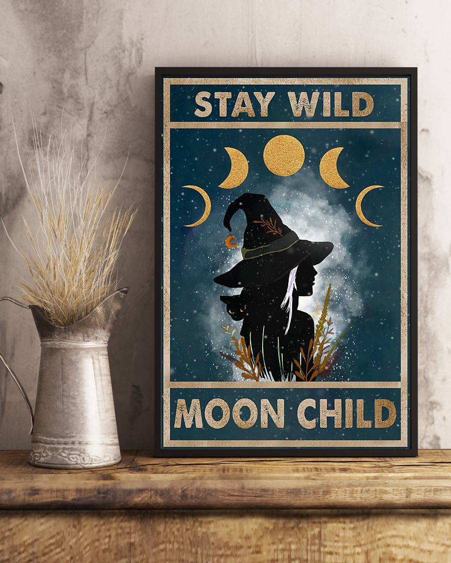 vintage stay wild moon child witch lady poster 5