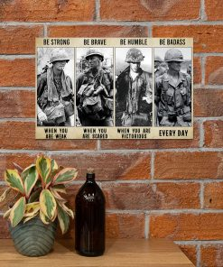 vintage vietnam veteran be strong be brave be humble be badass poster 4