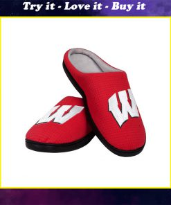 wisconsin badgers football full over printed slippers
